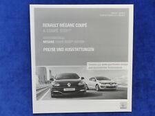 Renault Megane Coupé GT SPORT Bose-liste de prix-prospectus brochure 07.2015