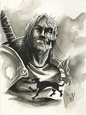 THE HOUND FROM GAME OF THRONES ORIGINAL ART MATT SLAY TYRION JOHN SNOW 1 PC
