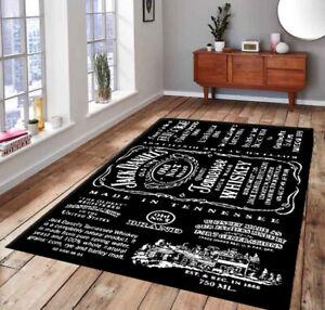 Jack Daniels New  Patterned Non-Slip Floor Carpet, Nostalgic Carpet