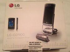 RARE LG CRYSTAL GD900 Crystal-Argento (Sbloccato) Cellulare NUOVISSIMO