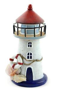 Nautical Lighthouse w Seashells  MI 55871 Miniature Fairy Garden  Beach