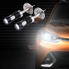2X Car Automotive White LED Headlight High Power H1 10SMD 50W Fog Lamp Headlamp