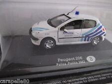 AUTO DELLA POLIZIA DA COLLEZIONE modellino 1:43 - Peugeot 206 Belgio