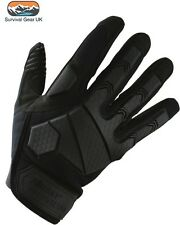 BLACK ALPHA TACTICAL COMBAT GLOVES HARDSHELL KNUCKLE MICRO FIBRE PALM SHOOTING