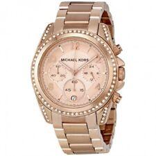 Reloj con Cronógrafo Para Mujer Michael Kors Blair MK5263 Oro Rosa Dial RRP £ 229.00