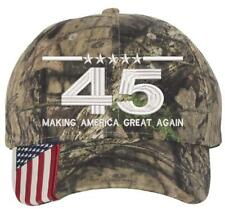 682e3b7bedd4 DonalTrump 45 American Flag Realtree Hat Make America Great Again 45th  President