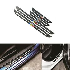 4x Jdm Mugen Blk Carbon Fiber Car Door Welcome Plate Sill Scuff Cover Protector (Fits: Honda)
