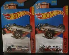 2 NEW HOT WHEELS HW RACE CARBIDE RED CHROME 02
