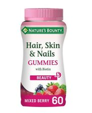Nature's Bounty Hair, Skin & Nails  With Biotin 60 Mixed Berry Flavour Gummies