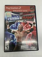 Wwe Smackdown Vs. Raw 2007 Greatest Hits (Sony Playstation 2 PS2 Complete Tested