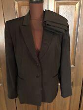 Tahari ASL Black Pinstripe Skirt Suit 16
