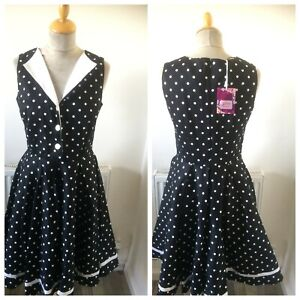 1950's Style Polka Dot  Dress Size 10  By Joe Browns