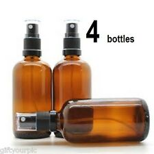 100ml amber glass spray bottleS (4 lot) aromatherapy essential oils refillable