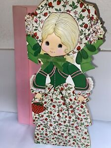 Gibson Paper Doll Diet Greeting Card Vanity Fair Representing 1860 Bonnet