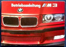Prospekt * Owner's Manual  Betriebsanleitung BMW M3  (8/93)