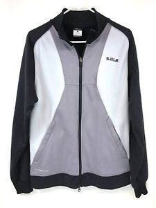 Nike Therma-Fit Men's Small Lebron James Warmup Track Zip Up Jacket Gray