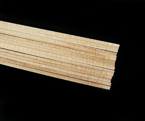 """4 Pieces of Curly Maple Binding, 32"""" Length, Acoustic Electric Guitar"""