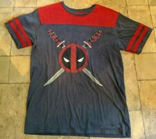 Men's Marvel DeadPool Two-Tone Graphic T-Shirt Tee - Size Medium - Cotton