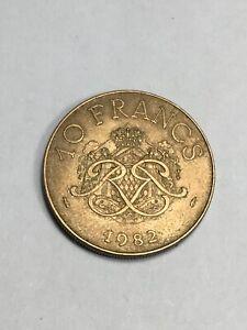 Monnaie Monaco 10 Francs Rainier III 1982 (7-44)
