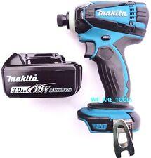 New Makita 18V XDT04 Cordless 1/4 Impact Driver,1) BL1830 3.0 AH Battery 18 Volt