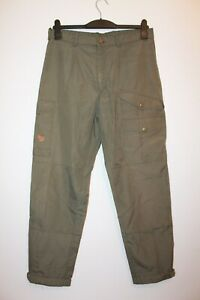 Vintage Fjallraven Olive Green Full Length Trousers Size 48 Outdoor Walking Hike