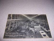 1930s LARGE GENERATORS AISLE WESTINGHOUSE ELECTRIC CO. PITTSBURGH PA. POSTCARD