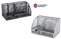 OSCO Desk tidy mesh organiser in BLACK/SILVER Scratch-Resistant from £8.95 each