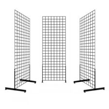 Display Grid Rack 6 ft Panel Metal Stand Retail Store Craft Art Shelf Organizer