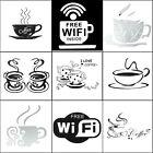 Coffee Tea Cup Kitchen Bar Store Office Mural Wall Sticker Art Decal Cafe Vinyl