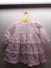 RARE SARAH LOUISE ENGLAND PINK COTTON LONG SLEEVE DRESS 12 MONTHS PHILIPPINES