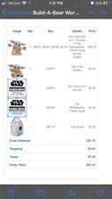 Build-A-Bear Workshop Baby Yoda Stuffed Plush Toy *SEND OFFERS I WANT SOLD*