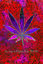 NO HIGHER LAW THAN TRUTH - WEED POSTER 24x36 - MARIJUANA POT LEAF SMOKING 8510