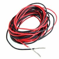 2x 3M 20 Gauge AWG Silicone Rubber Wire Cable Red Black Flexible SY U7T8 G7 R4F1