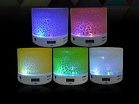 ALTAVOCES ALTAVOZ PORTATIL BLUETOOTH INALAMBRICOS AUX MICRO SD RADIO LED LUCES