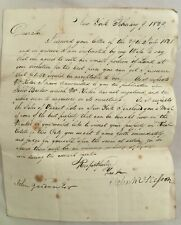 1829 Manuscript Letter New York City Land For Sale John McKesson (1772-1829)