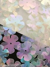 Flower Sequins 20mm White AB Daisy Translucent Iridescent 3/4in Read Description