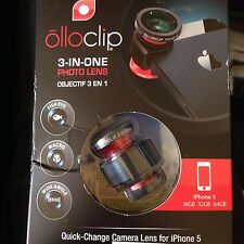 NEW olloclip original 3-in-1 Photo Lens iPhone 5/5s Red