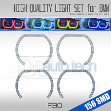 Multi-Color RGB Angel Eye Halo Ring Kit For BMW F30 3 Series Halogen Headlamps