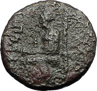KOLOPHON in IONIA 50BC Poet Homer of ODYSSEY Apollo Ancient Greek Coin i59586