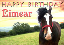 HORSE Equestrian Happy Birthday Greetings Card PERSONALISED horse show pony