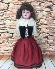 "Antique German Bisque Doll Max Oscar Arnold 200 Mold Vintage Clothing 19"" Tall"