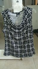 New Directions - Career Sleeveless Top - size XL - black & white
