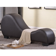 Yoga Chair Chaise Lounge Sofa Sex Loveseat Lounger Sleeper Bonded Leather Modern