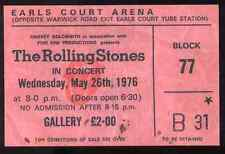 ROLLING STONES REPRO 1976 EARLS COURT ARENA LONDON 26 MAY CONCERT TICKET .NOT CD