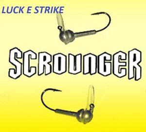 Lucky E Strike Scrounger Long Bill Jig Head, Choice of Sizes