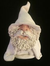 Vintage White Wizard Clay Sculpture Don White