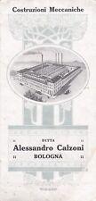 BOLOGNA_Ditta ALESSANDRO CALZONI_Costruzioni Meccaniche_Depliant pubblicitario