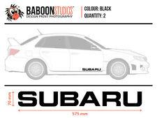 X2 BLACK SUBARU DECALS 70x575mm WRX, STI, FORESTER, LEGACY, XV, OUTBACK