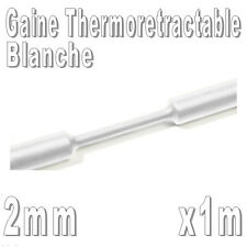 Gaine Thermo Rétractable 2:1 - Diam. 2 mm - Blanc - 1m