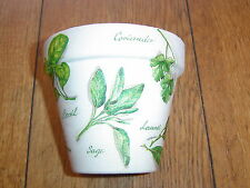 Hand Painted + Decoupaged Flower Pots 11 cm ( Terracotta ) Mixed Herbs